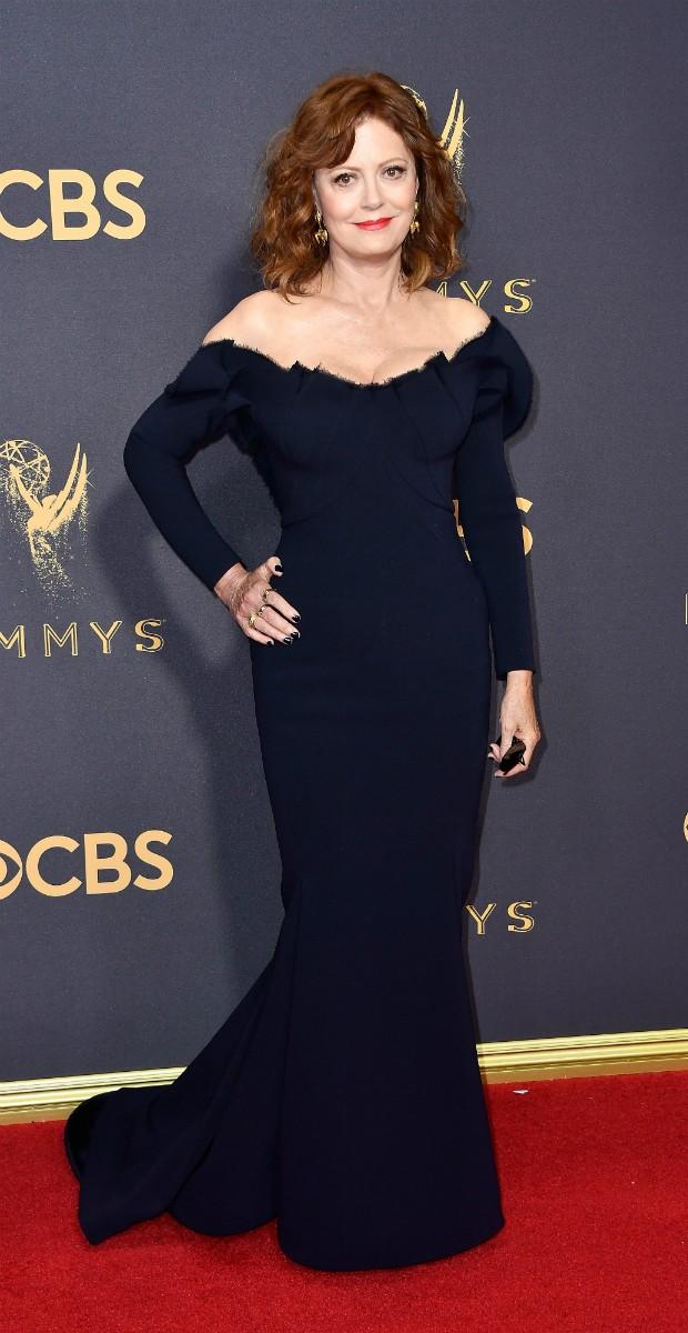 Susan Sarandon no Emmy 2017 (Foto: Getty)