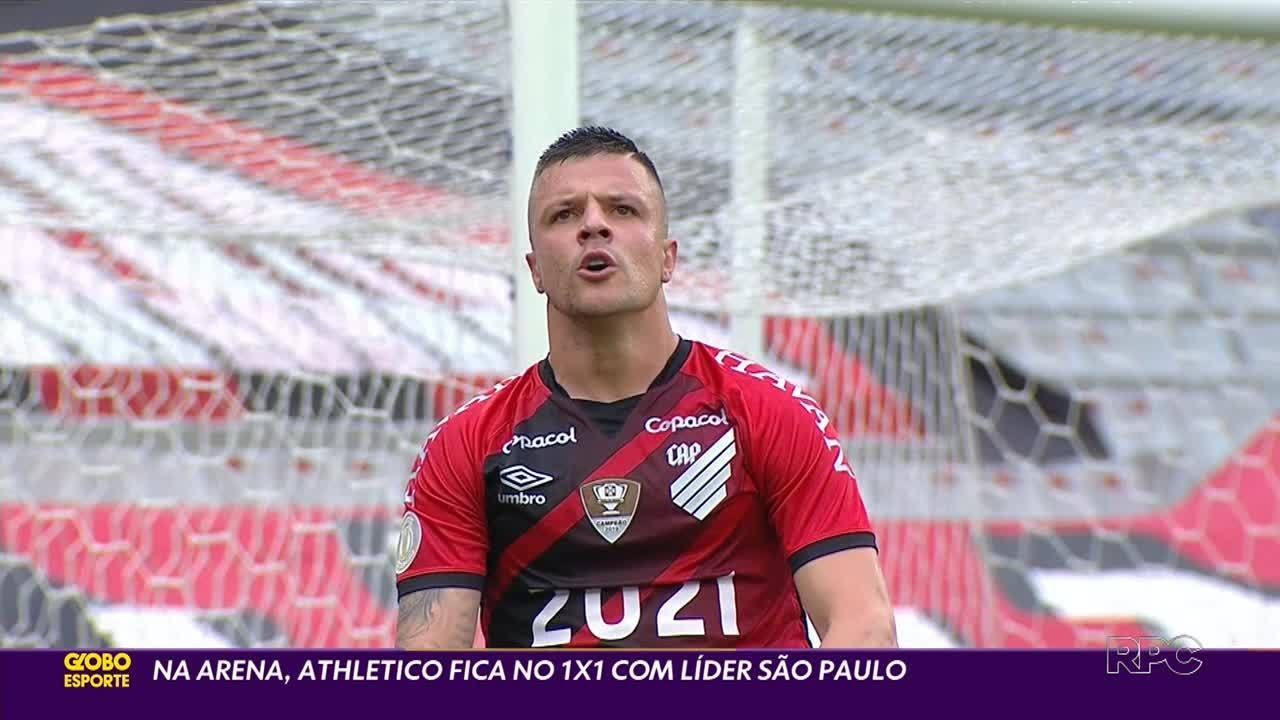 Na Arena da Baixada, Athletico empata com líder São Paulo