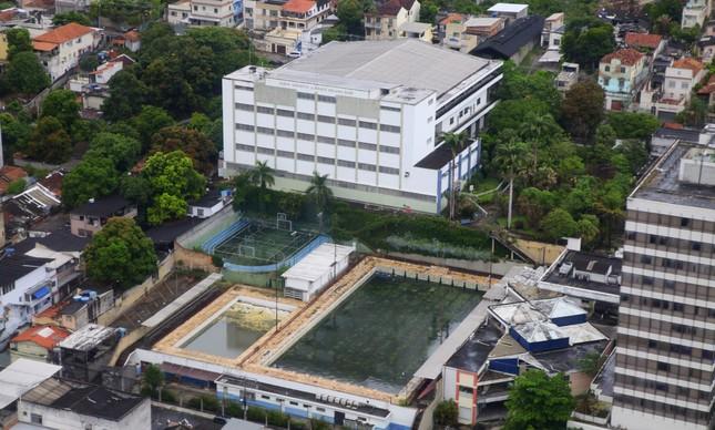 Vista aérea do Parque Desportivo Benjamim Sodré, no campus Piedade da Universidade Gama Filho