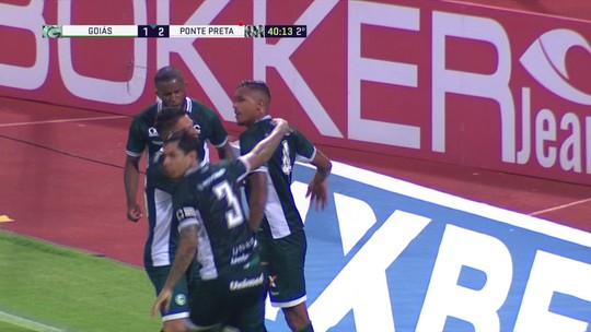 Os gols de Goiás 2 x 2 Ponte Preta pela 28ª rodada pelo Campeonato Brasileiro Série B