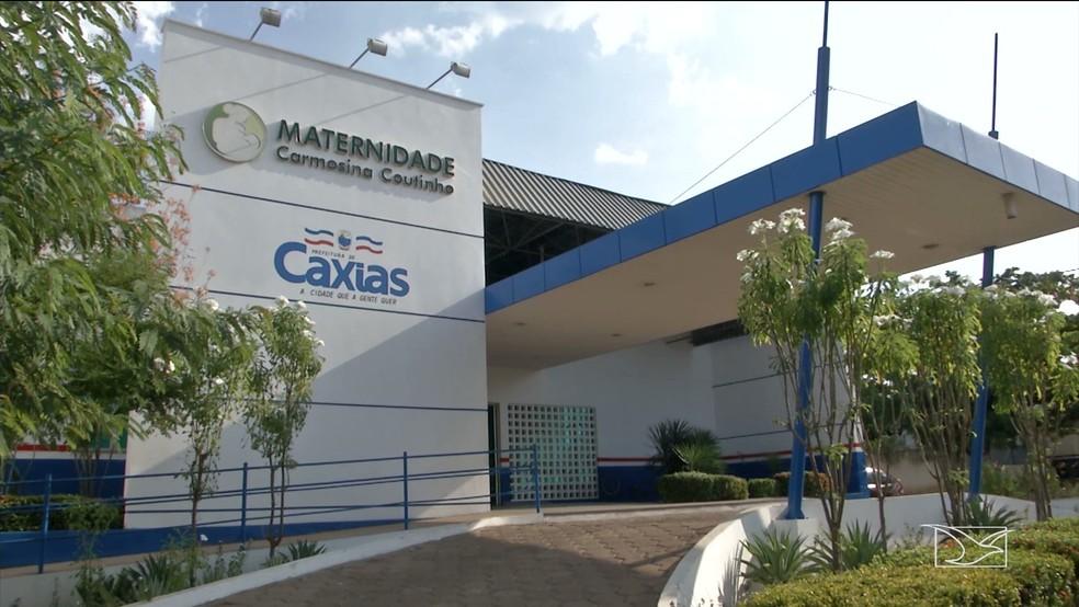 Maternidade Carmosina Coutinho, em Caxias, onde Maria Clara foi atendida após nascer dentro de viatura da PM — Foto: Reprodução/TV Mirante