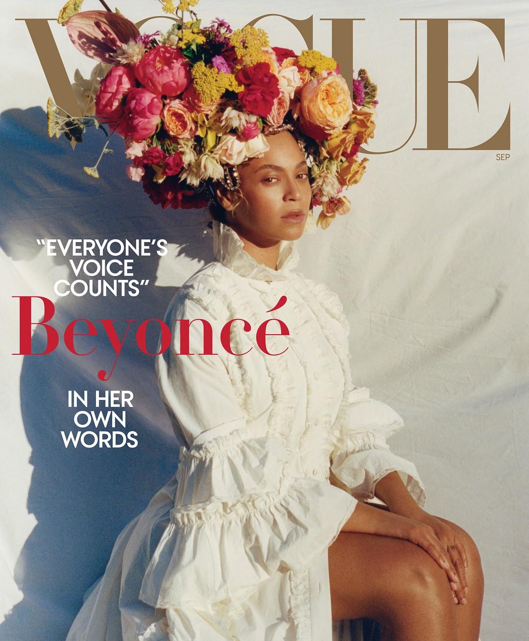 Beyoncé na Vogue americana (Foto: Divulgação/Tyler Mitchell para Vogue America)