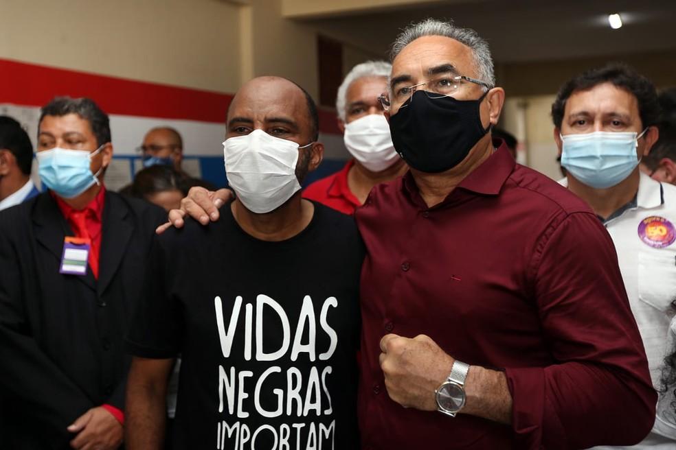 Edmilson Rodrigues (PSOL) e Edilson Moura (PT) são eleitos no 2º turno das Eleições de Belém (PA) — Foto: Elcimar Neves