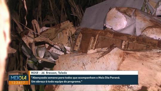 Queda de avião em Cascavel começa a ser investigada nesta segunda-feira
