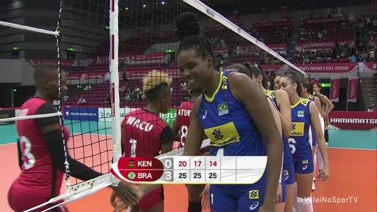 Brasil atropela o Quênia e chega à terceira vitória na Copa do Mundo de vôlei feminino