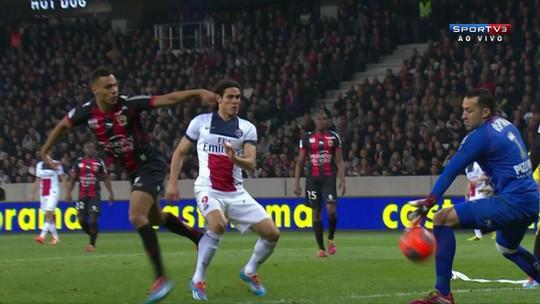 O gol de Nice 0 x 1 Paris Saint Germain pelo Campeonato Francês