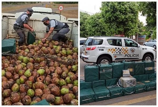Caminhoneiro é preso após ser flagrado com mais de 700 quilos de cocaína em rodovia de Catiguá
