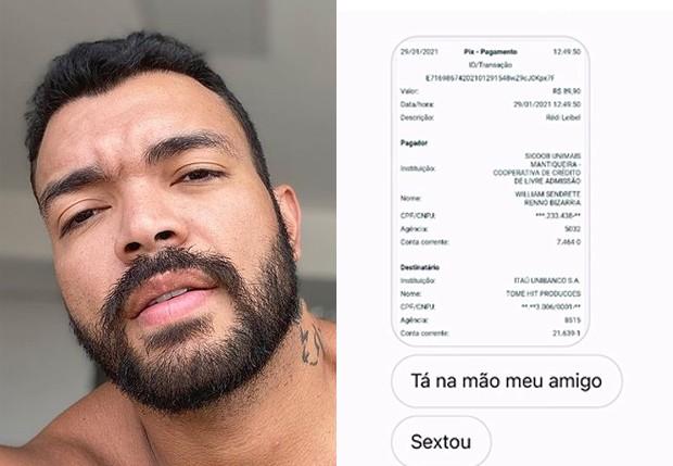 Cantor e compositor Thiago Brava, o Rei do Pix, paga boletos de fãs com dificuldades financeiras (Foto: Reprodução/Instagram)