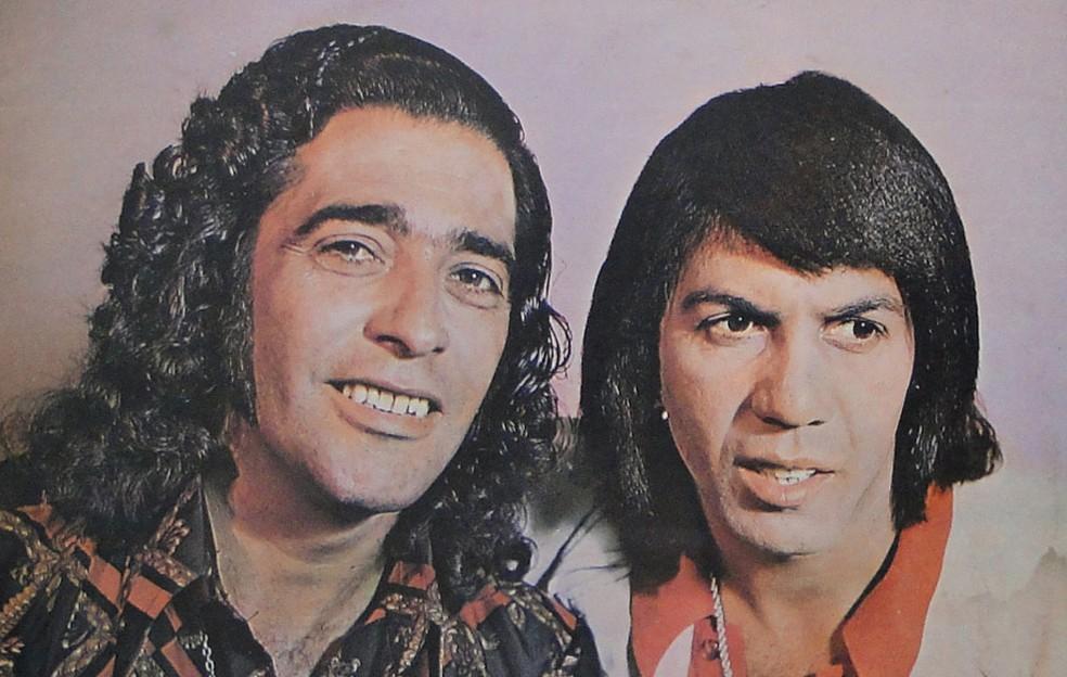 João Mineiro & Marciano, dupla sertaneja formada na década de 1970 — Foto: Reprodução / Capa de disco