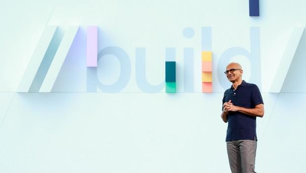 Satya Nadella, CEO da Microsoft, durante o Microsoft Build 2019 (Foto: Divugação)