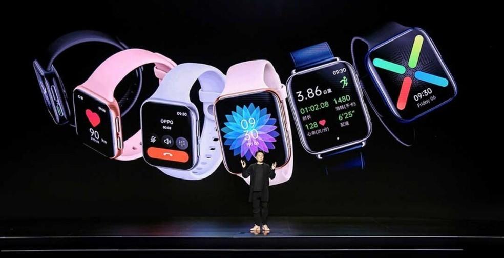 Oppo Watch: relógio cópia do Apple Watch tem bateria para 21 dias ...