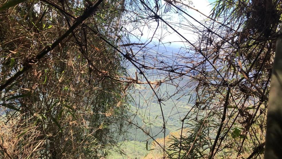 Um alpinista morreu e outro ficou preso — Foto: Polícia Militar/Divulgação