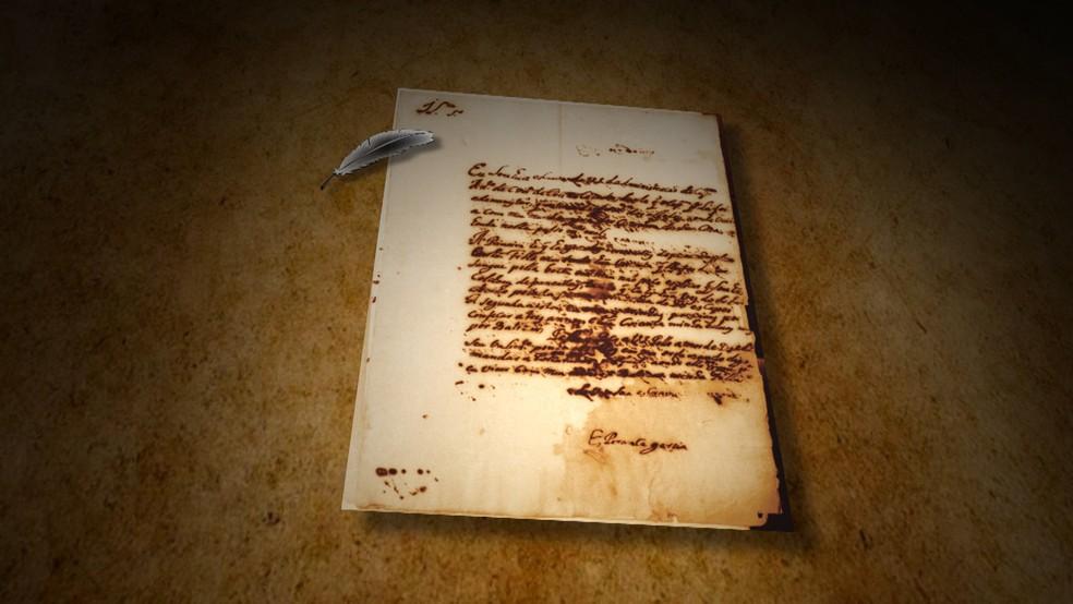 Em carta escrita a punho, Garcia denuncia maus tratos — Foto: Reprodução/TV Clube