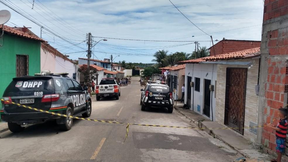 Homem é assassinado um dia antes de celebrar casamento no Ceará — Foto: Leábem Monteiro/G1