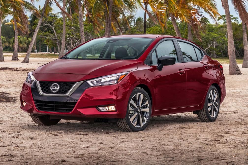 Nissan Versa ganhou visual mais inspirado — Foto: Divulgação/Nissan
