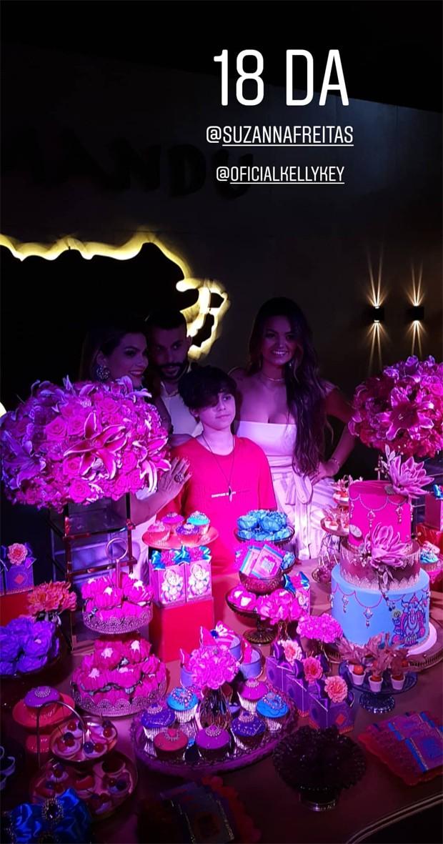 Suzanna Freitas ganha festa surpresa de Kelly Key ao completar 18 anos (Foto: Reprodução/Instagram)