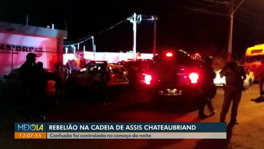 Presos fazem motim na cadeia de Assis Chateaubriand após suspensão temporária de visitas, diz Sesp