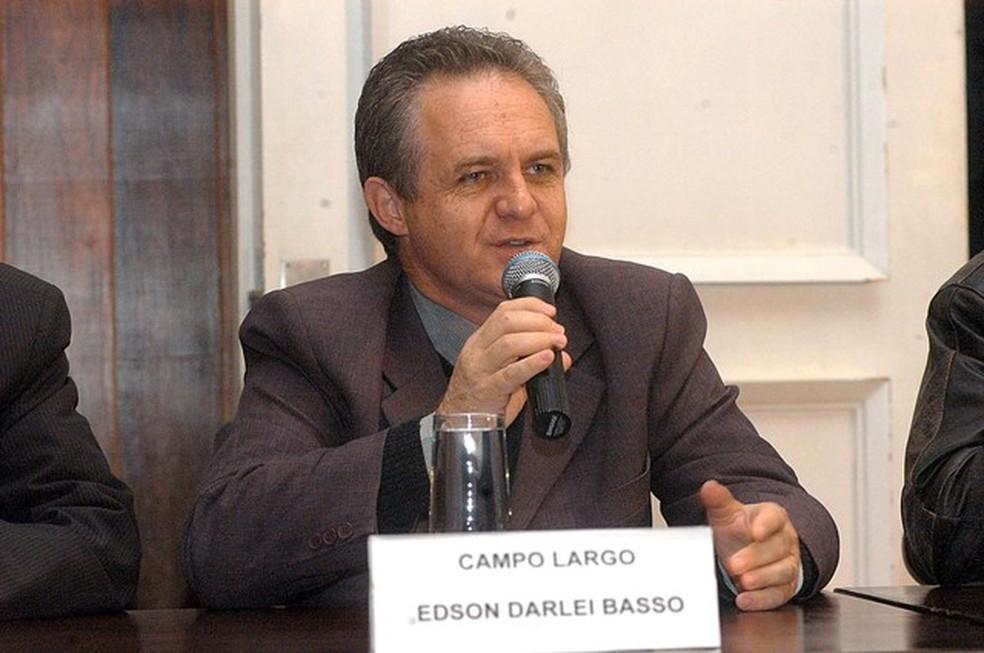 Ex-prefeito de Campo Largo Edson Darlei Basso foi condenado por contratação de 'chefe de secretaria' que atuava como vigia (Foto: Roberto Corradini/AEN)