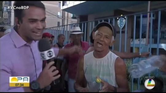 """""""Papa"""" benze marido fujão e outro torcedor bicolor, que """"crava"""" dois gols de Quarentinha no Re-Pa"""