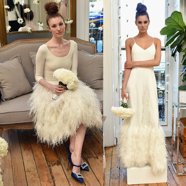 Looks da coleção bridal de Sarah Jessica Parker em parceria com o Gilt (Foto: Getty Images)