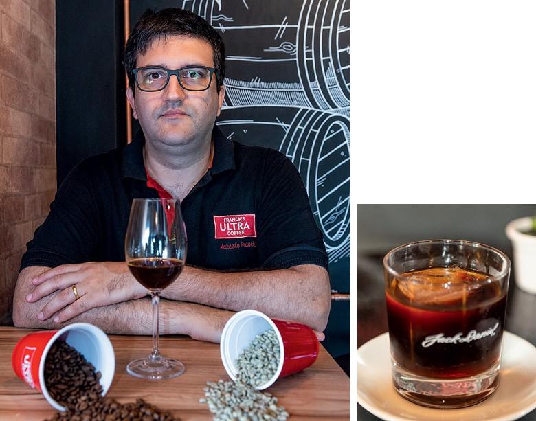 Café destilado - Marcelo Franck, proprietário da cafeteria Franck's Ultra Coffee (Foto: Henry Milléo)