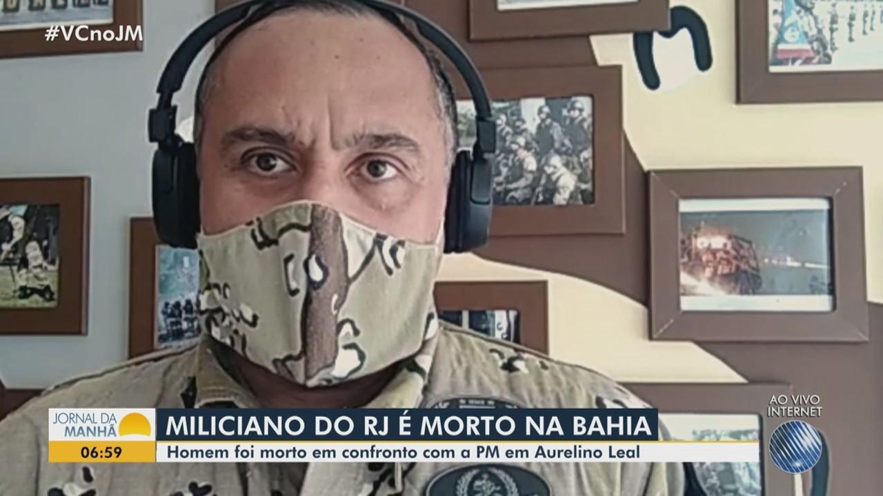 Suspeito de integrar milícia no RJ morre após confronto com a Polícia Militar da Bahia