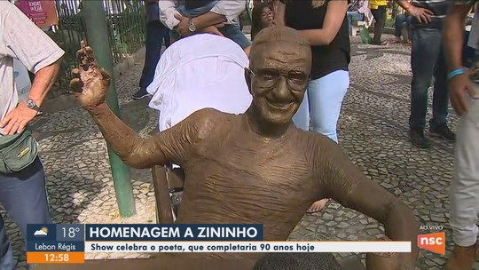 Poeta Zininho recebe homenagens em Florianópolis no dia em que completaria 90 anos