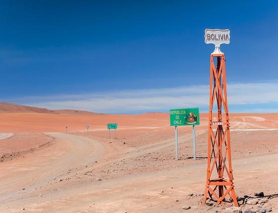 Área na fronteira entre Chile e Bolívia. Os bolivianos foram os que mais perderam território e querem uma saída para o mar (Foto: Shutterstock)