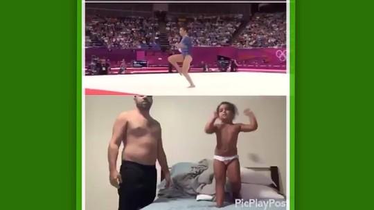 """Tio que postou vídeo da sobrinha imitando ginasta se surpreende: """"Não tinha pretensão de viralizar"""""""