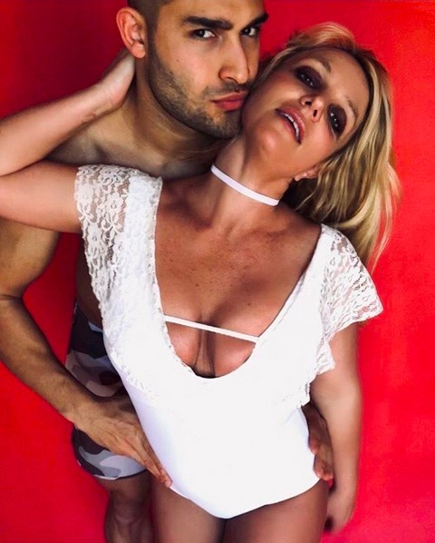 Britney Spears e Sam Asghari (Foto: Instagram)