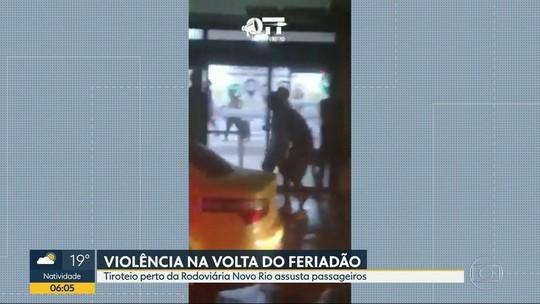 Imagens mostram correria após tiroteio perto de rodoviária do Rio