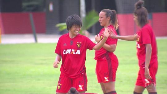 Ao viver sonho de atuar no Brasil, japonesa Kira mira estreia pelo Sport