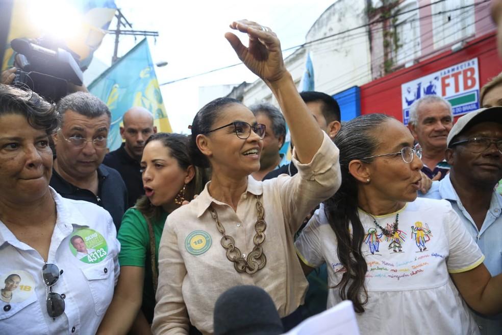 Marina Silva, candidata a presidente — Foto: AILTON CRUZ/ESTADÃO CONTEÚDO
