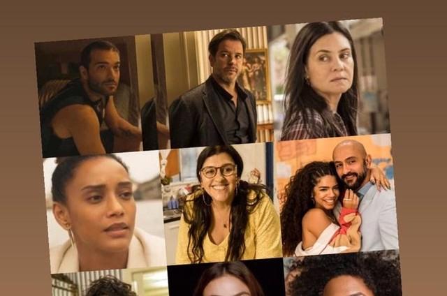 Montagem com personagens de 'Amor de mãe' (Foto: TV Globo)
