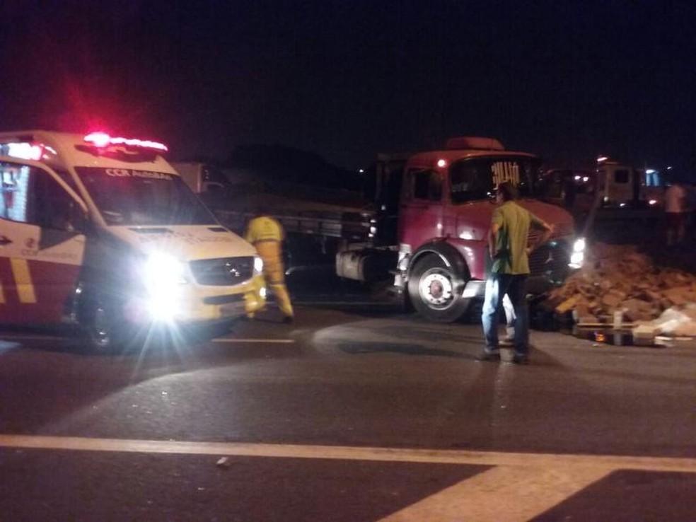 Concessionária tentou socorrer caminhoneiro, mas ele não resistiua (Foto: Arquivo Pessoal )