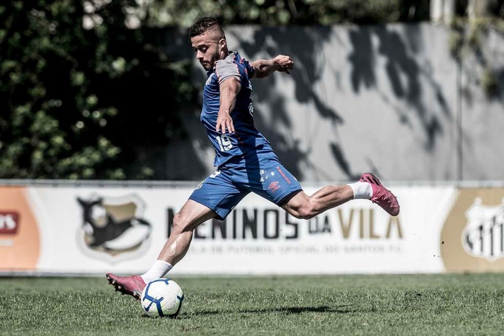 Lucas Venuto também deixou sua marca no jogo-treino desta segunda — Foto: Ivan Storti/Santos FC