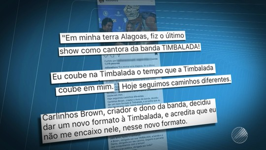 Cantora Millane Hora anuncia que não faz mais parte da Timbalada