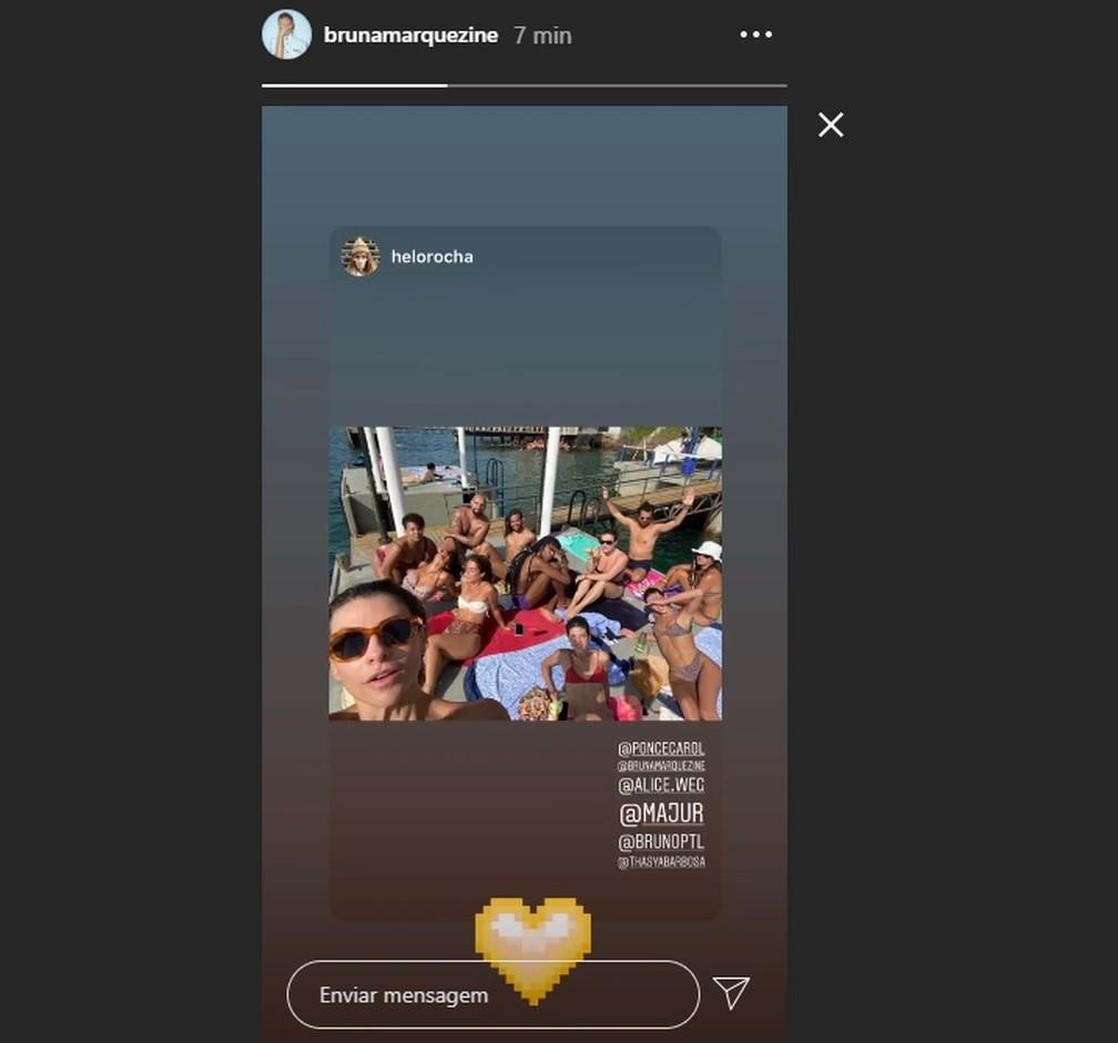 Bruna Marquezine posta fotos com amigos em Salvador — Foto: Reprodução/Redes Sociais