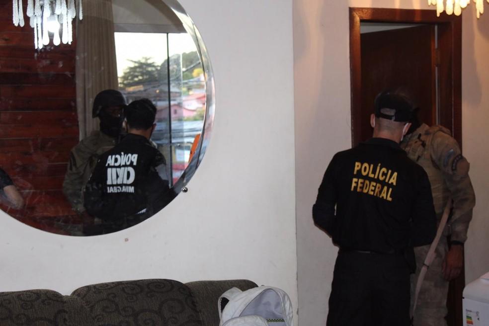Operação 'Caixa Forte' cumpre mais de 600 mandados nesta segunda-feira (31) — Foto: Polícia Civil de Minas Gerais/Divulgação