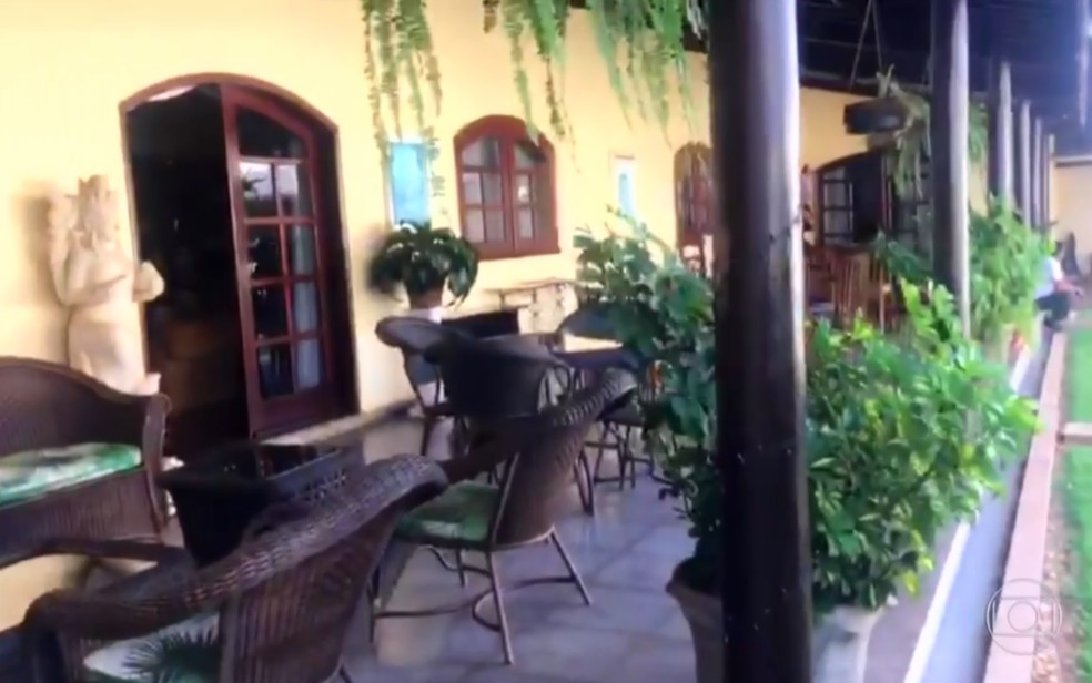 Casa de João de Deus em Anápolis Goiás — Foto: Reprodução/TV Globo
