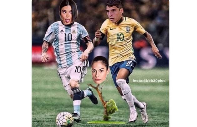 Vários memes surgiram na internet com o futebol como tema (Foto: Reprodução/Instagram)