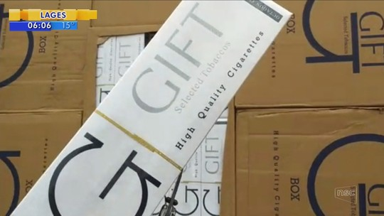 162 mil maços de cigarros contrabandeados são apreendidos na BR-101 em Joinville
