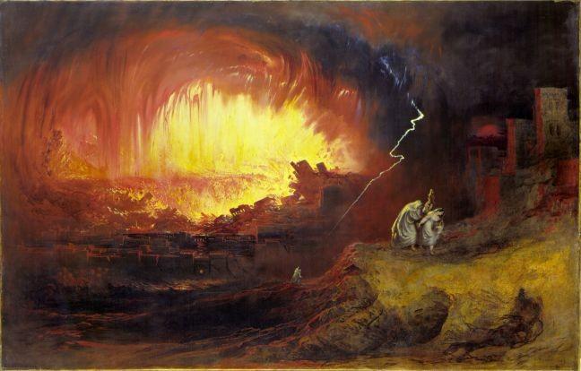 A Destruição de Sodoma e Gomorra. Óleo sobre tela, John Martin, 1832 (Foto: Reprodução fotográfica / Domínio público)