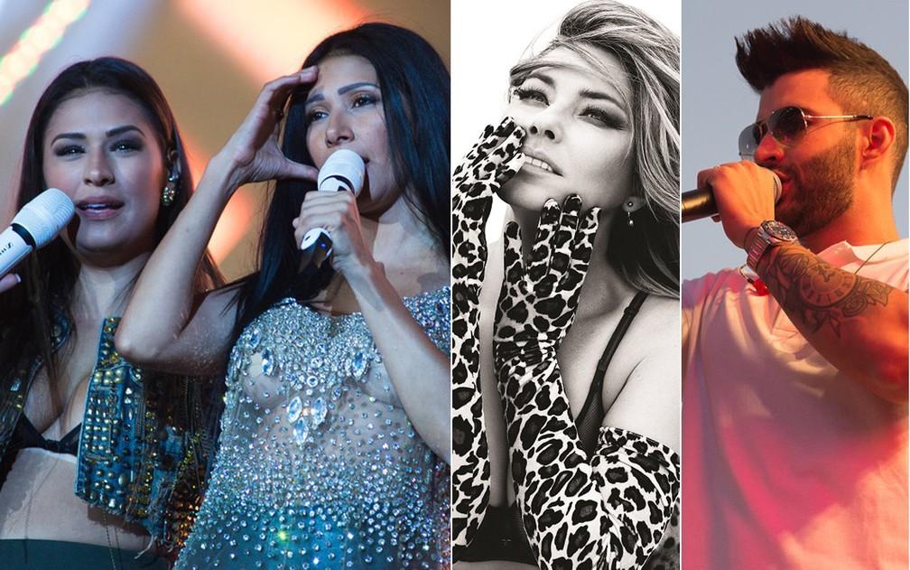 Simone e Simaria, Shania Twain e Gusttavo Lima estão confirmados na Festa do Peão de Barretos 2018 (Foto: Érico Andrade/G1/Divulgação)
