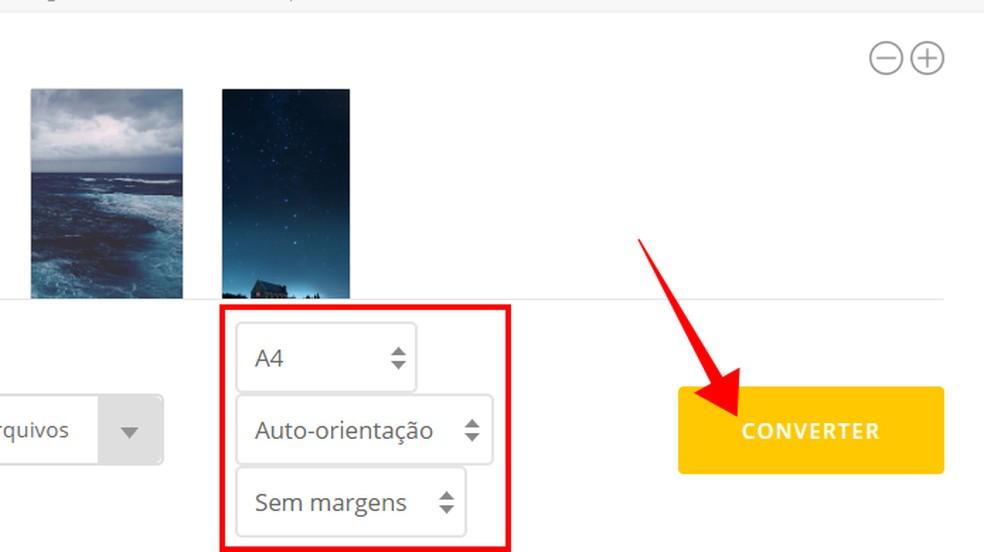 Configure o documento e crie o PDF online — Foto: Reprodução/Paulo Alves
