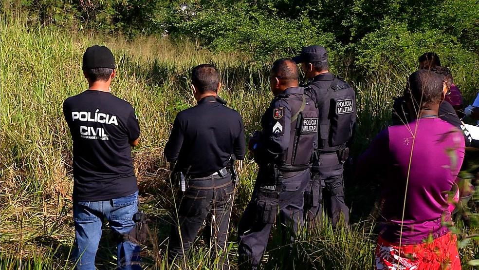 Corpo foi encontrado no Prolongamento da Avenida Prudente de Morais, em Natal — Foto: Reprodução/Inter TV Cabugi