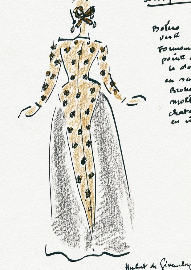 Croqui de Givenchy para a Schiaparelli (Foto: Reprodução/Instagram)