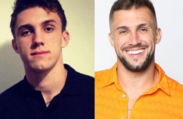 O professsor de crossfit Arthur em 2013 e atualmente: barba e novo corte de cabelo (Foto: Reprodução)