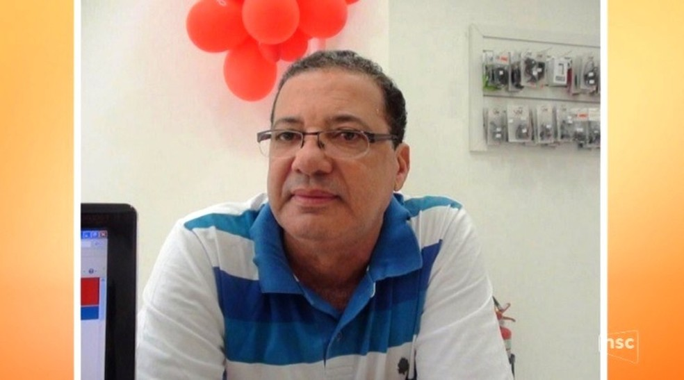 O médico Cleonildo Aldeman de Oliveira foi assassinado em Timbó, no Vale do Itajaí (Foto: Reprodução/NSC TV)