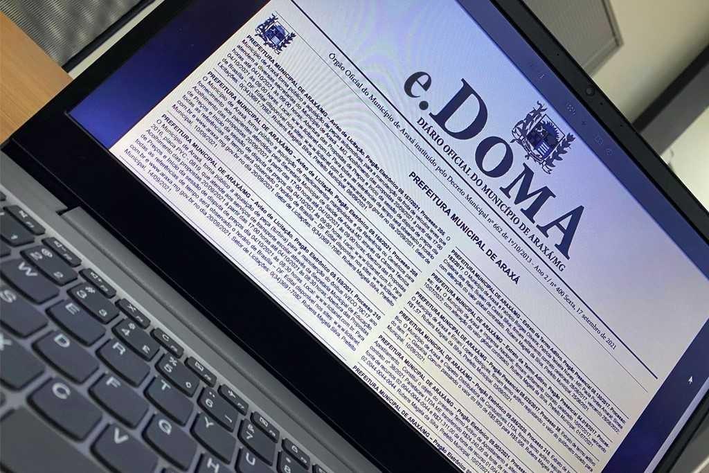 Prefeitura de Araxá encerra impressão do Diário Oficial do Município e documento passa ser exclusivamente eletrônico